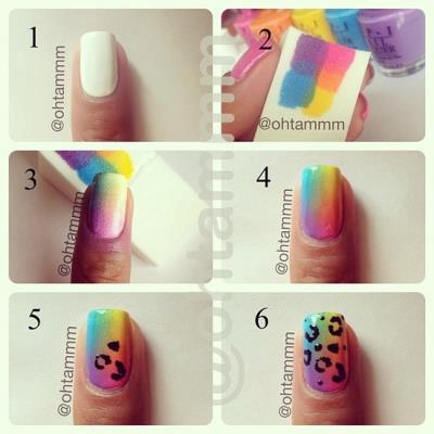 How to do nail art by images sako nail first you will bring a glass of water and bring a nail polish pink yellow orange white and take a stick and draw some stripes and deep the nail prinsesfo Choice Image
